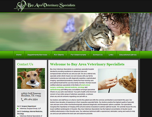 Client Website - Bay Area Veterinary Specialists