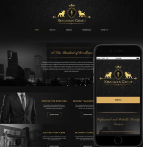 Mobile Web Design for Kingsman Group