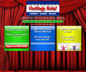 On Stage Kids Website Entry