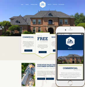 Mobile Web Design for Rock Roofing and Construction