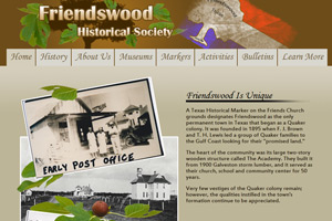Historical society website design