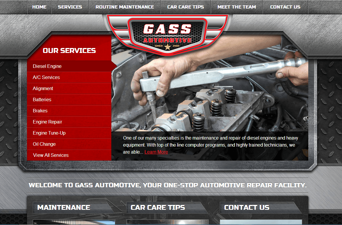 automotive website design